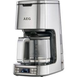 aeg koffiezetapparaat premiumline 7series kf 7800, met glazen kan, roestvrij staal zilver