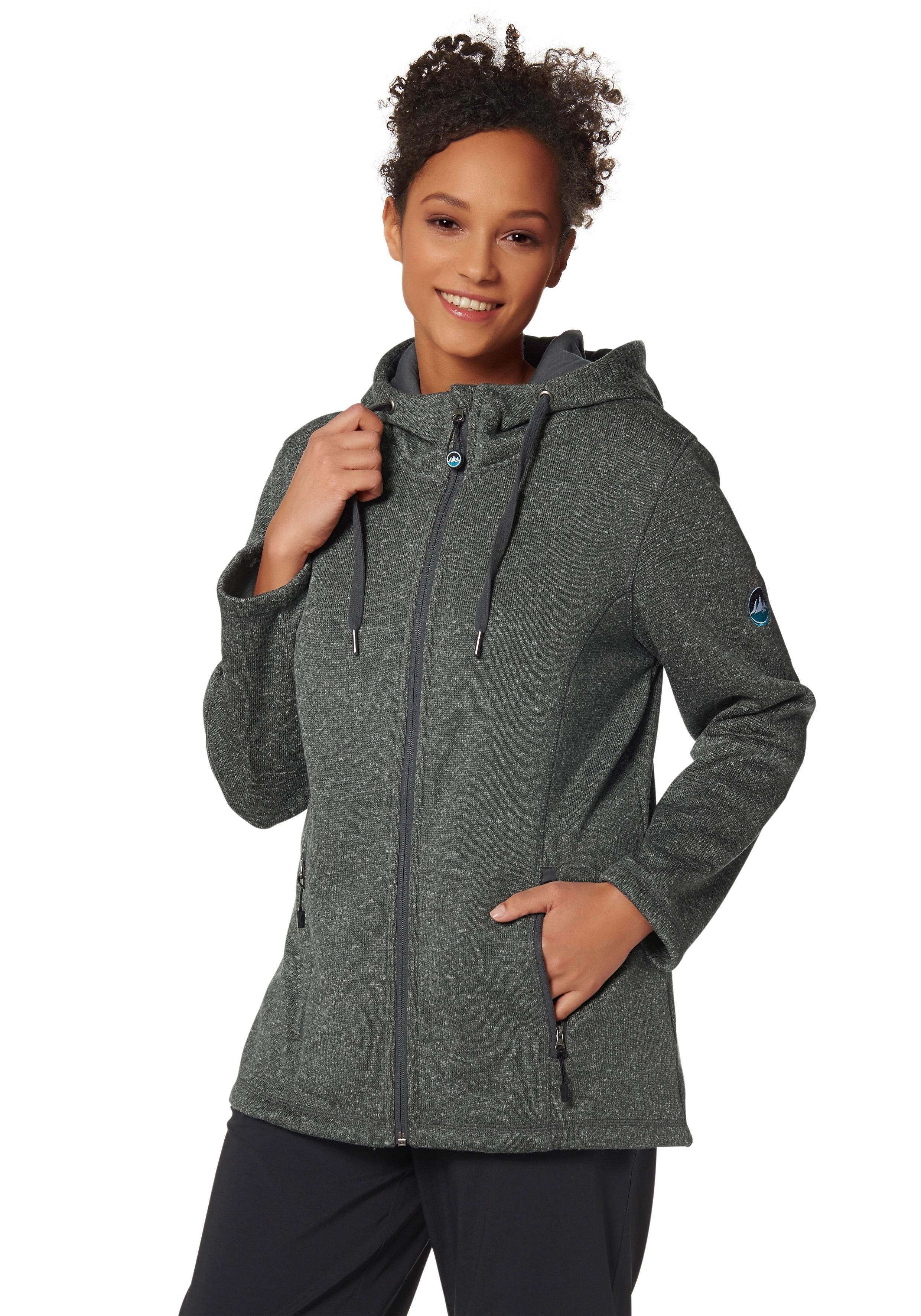Polarino Fleece-jack met gevoerde capuchon voordelig en veilig online kopen
