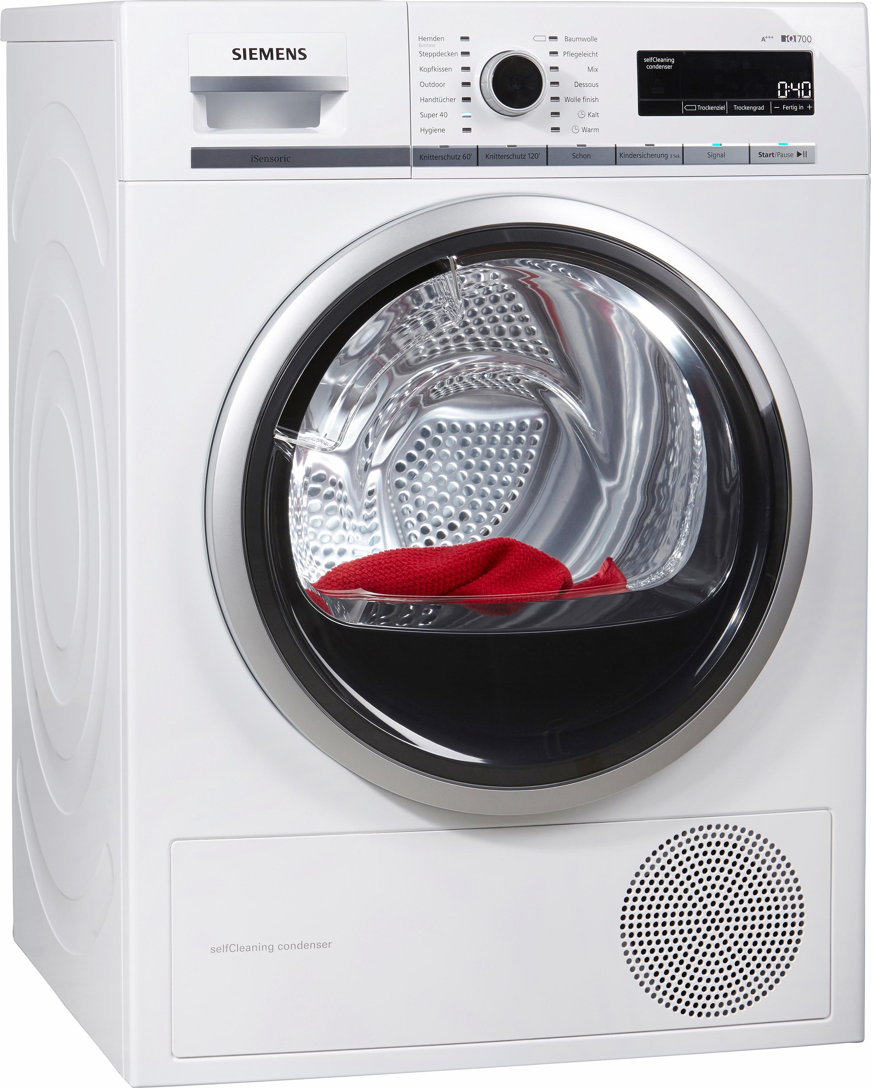 Siemens warmtepompdroger iQ700 WT47W5W0 nu online kopen bij OTTO
