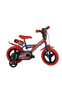 Dino kinderfiets, 12/14 of 16 inch, »Spiderman«