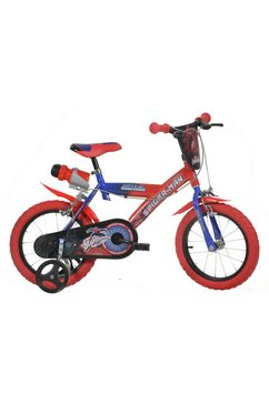 dino kinderfiets, 12-14 of 16 inch, »spiderman« rood