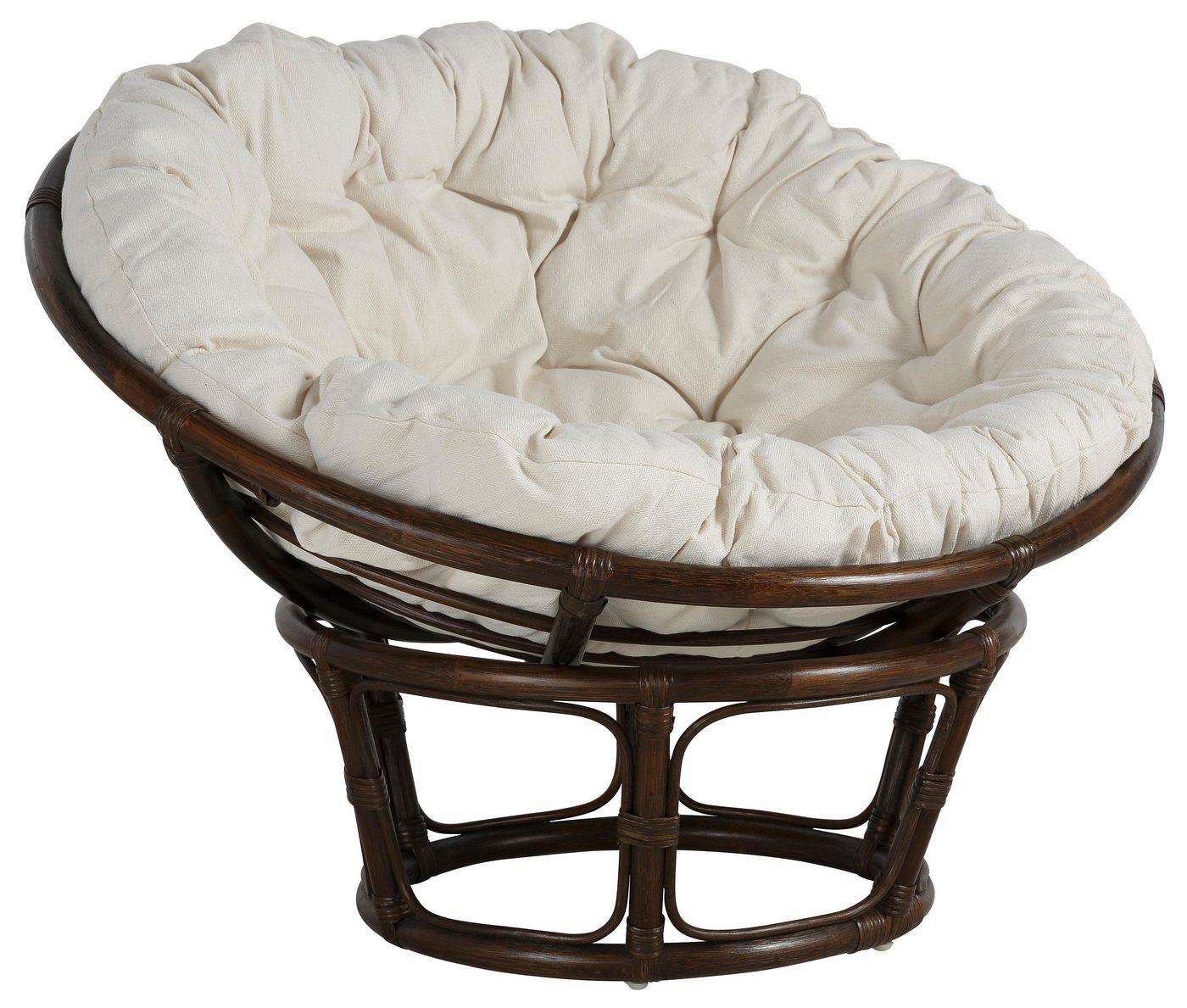 HOME AFFAIRE Papasan-stoel met kussen