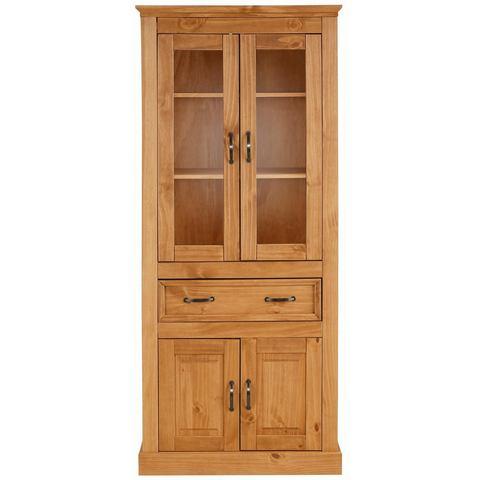 Kasten  vitrinekasten HOME AFFAIRE vitrinekast Selma hoogte 180 cm (2-deurs) 252373