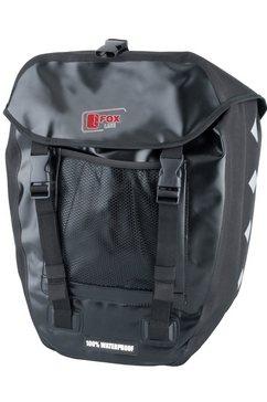 fox line fietstas voor bagagedrager, zwart zwart