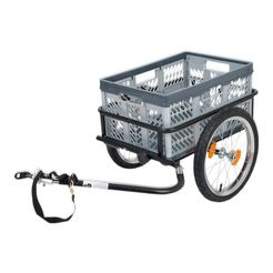 blue bird fietskar, 16 inch, grijs-zwart grijs