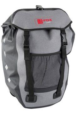 fox line fietstas voor bagagedrager, zwart-grijs zwart