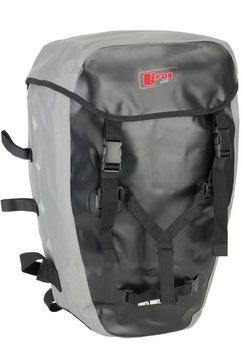 fox line fietsrugzak voor bagagedrager, zwart-grijs zwart