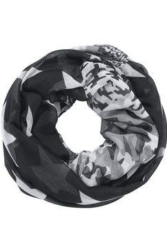 j. jayz ronde sjaal in patchwork-look zwart