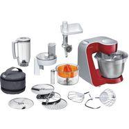 bosch keukenmachine styline mum56740 met edelstalen schaal, automatische snoeropwikkeling, met accessoires ter waarde van ca. 111€ vap rood