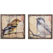 home affaire artprint »vogel« (2-dlg. set) multicolor