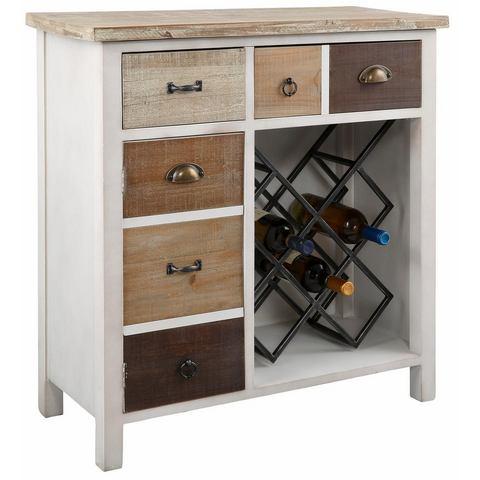 Kasten  vitrinekasten HOME AFFAIRE kast met wijnrek 552922