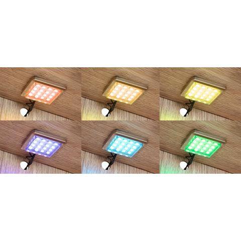 RGB-onderbouwverlichting, per stuk of set van 2