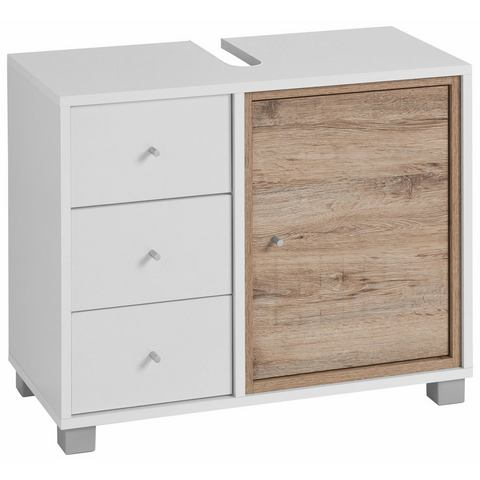 SCHILDMEYER Wastafelonderkast Korpio met 1 deur witte badkamer onderkast 208