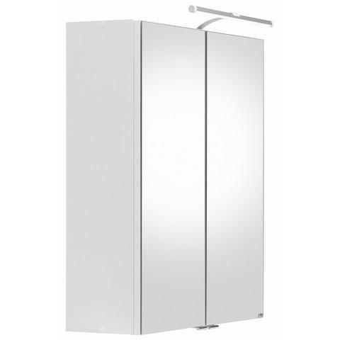 HELD MÖBEL kast Hero met LED-verlichting witte badkamer spiegelkast 52