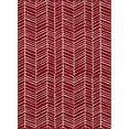 andas vloerkleed »luke«, andas, rechthoekig, hoogte 8 mm, machinaal geweven rood