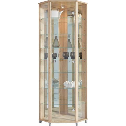 Kasten  vitrinekasten Hoekvitrinekast hoogte 172 cm 7 glasplateaus 441285