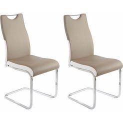 vrijdragende stoel in set van 2 of 4 groen