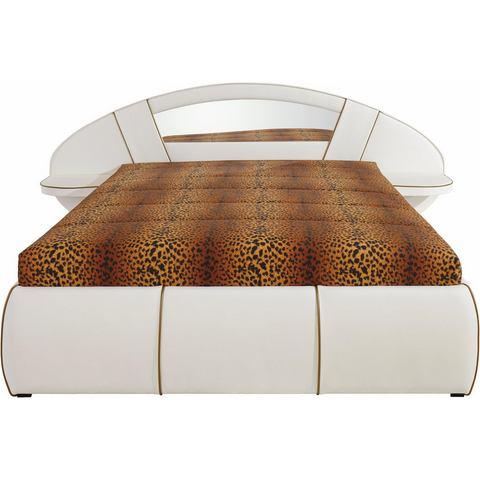 HAPO Bed met spiegel hoofdbord met Bonell binnenveringsmatras H2 wit Hapo 238653