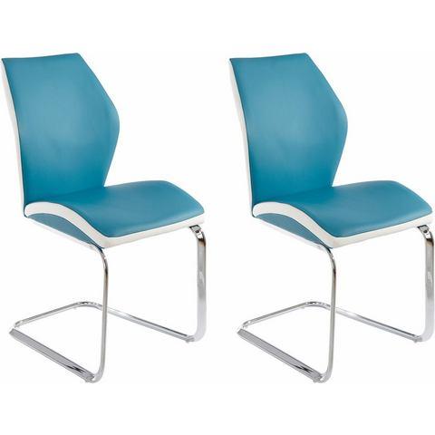 Eetkamerstoelen Vrijdragende stoel in voordelige set van 2 of 4 270972