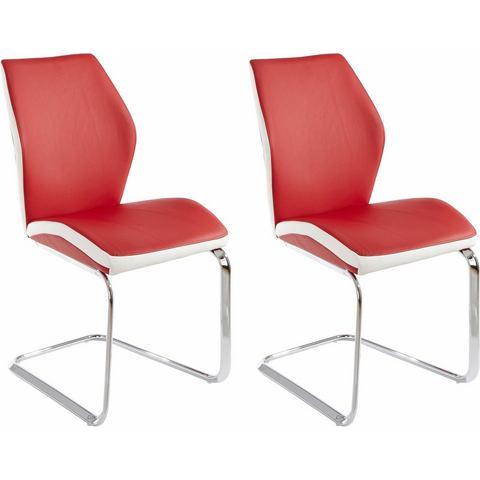 Eetkamerstoelen Vrijdragende stoel in voordelige set van 2 of 4 374243