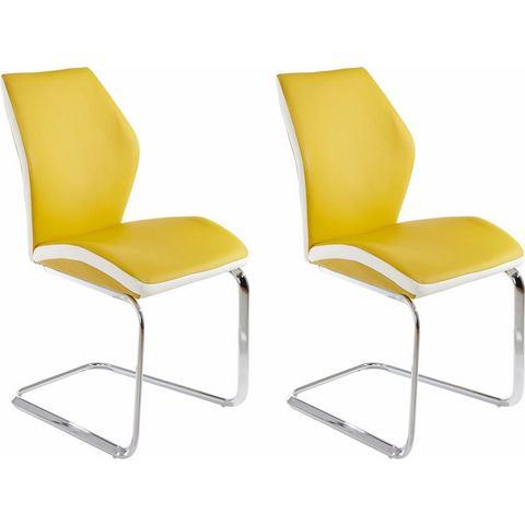 Eetkamerstoelen Vrijdragende stoel in voordelige set van 2 of 4 614300