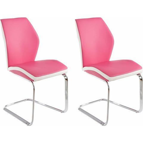 Eetkamerstoelen Vrijdragende stoel in voordelige set van 2 of 4 835538
