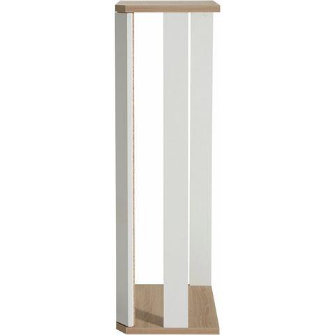 Hoekelement hoogte 135 cm wit ongeschaafd-eikenkleur vitrinekast 325