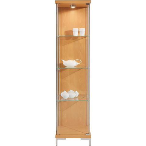 Kasten  vitrinekasten Vitrinekast 1-deurs met 3 glasplateaus 840932