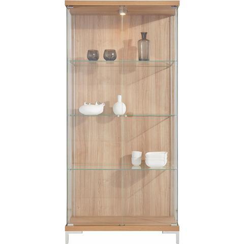 Kasten  vitrinekasten Vitrinekast 2-deurs hoogte 173 cm 3 glasplateaus 499282