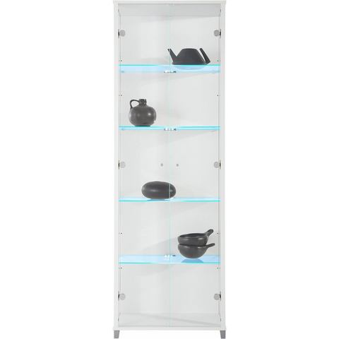 Vitrinekast 2-deurs hoogte 172 cm 4 glasplateaus