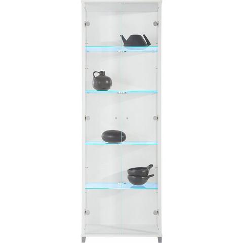 Kasten  vitrinekasten Vitrinekast 2-deurs hoogte 172 cm 4 glasplateaus 219621