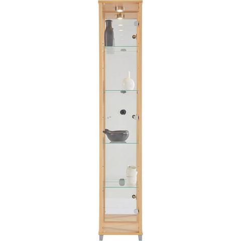 Kasten  vitrinekasten Vitrinekast 1 deur + spiegelwand + 4 glasplateaus 493577