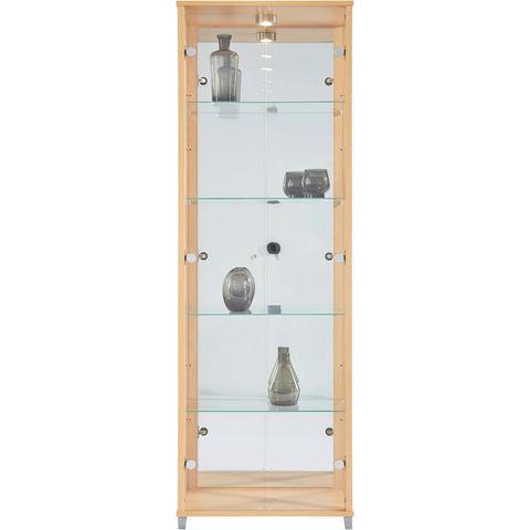 Kasten  vitrinekasten Vitrinekast 2-deurs spiegelachterwand  4 plateaus 546616