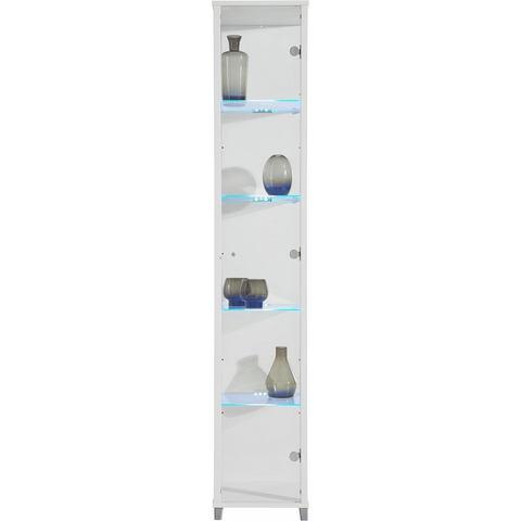 Vitrinekast 1-deurs hoogte 172 cm 4 glasplateaus