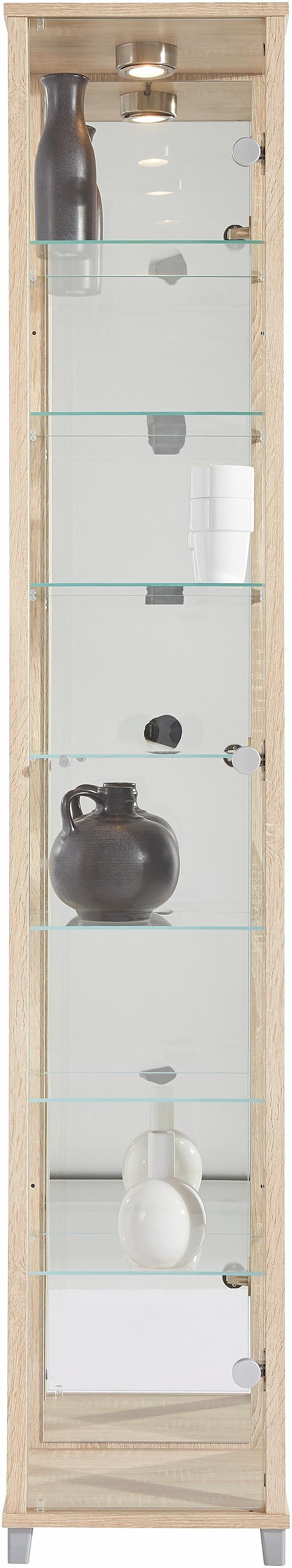 Vitrinekast met spiegelachterwand & 7 glasplateaus in de webshop van OTTO kopen