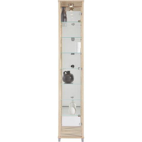 Kasten  vitrinekasten Vitrinekast met spiegelachterwand  7 glasplateaus 297681
