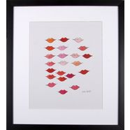 gc ingelijste artprint andy warhol, »mooie rode lippen«, 33x43 wit