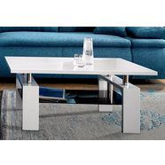 salontafel in hoogglans-look wit