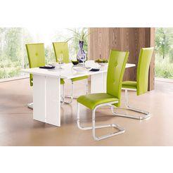 tafel van fsc-gecertificeerd houtmateriaal wit