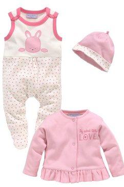 klitzeklein boxpakje, jasje  muts cute babygirl gemaakt van biologisch katoen (3-delig) roze