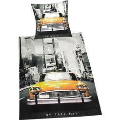 young collection overtrekset taxi met motief (2-delig) zwart