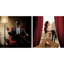 home affaire artprint »john silver, black tie, high heels« zwart