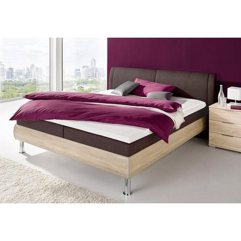 Boxspring in futonbed look pocketveringsmatras H2+H3 beige Matraflex 332955