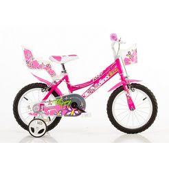 dino kinderfiets voor meisjes, 16 inch, 1 versnelling, »city« roze