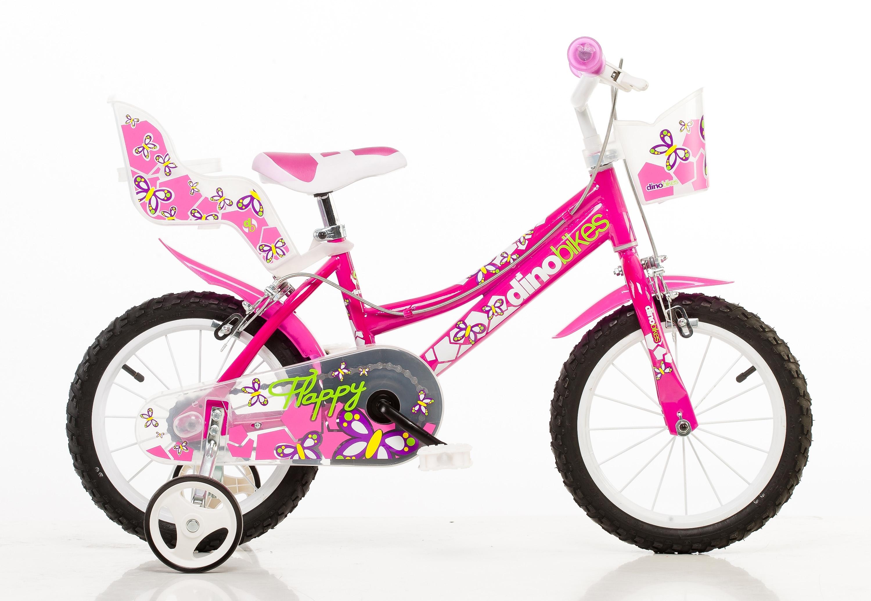 Dino kinderfiets voor meisjes, 16 inch, 1 versnelling, »City« nu online kopen bij OTTO