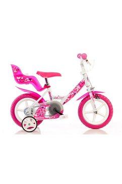 dino kinderfiets voor meisjes, 12 inch, 1 versnelling, »girlie« roze