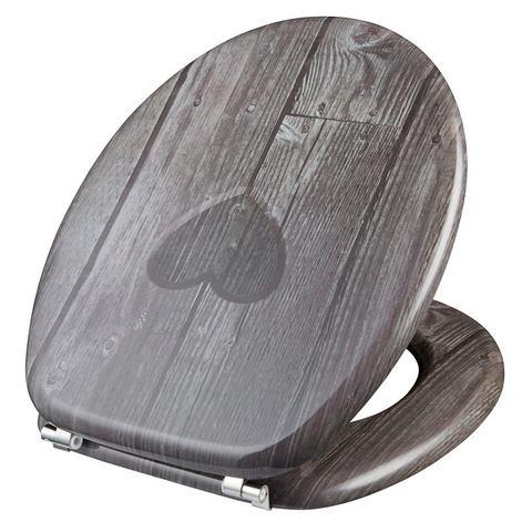 Badkameraccessoires Toiletzitting Hart 224103 bruin