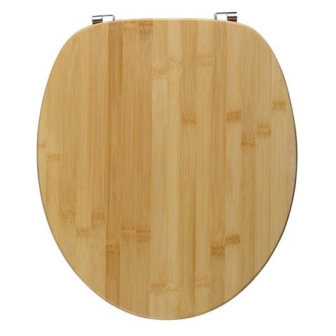 Badkameraccessoires Toiletzitting Bamboe 258250 bruin