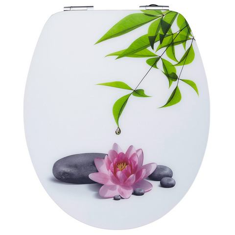 Badkameraccessoires Toiletzitting Water Lilly 362920 wit