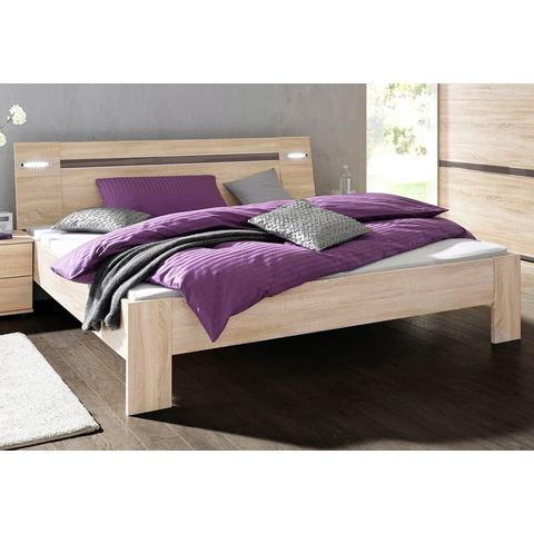 Bed incl. LED verlichting grijs Wimex 626675